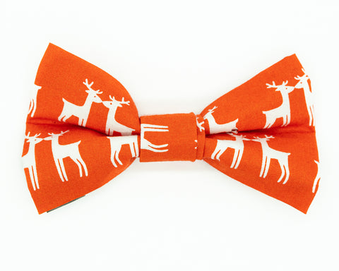 Dapper Dog Bow Tie - Winter Reindeer