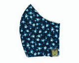 Adult Cotton Face Mask - Navy Daisy