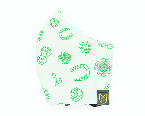 Adult Cotton Face Mask - Lucky 7