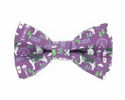 Husky Dog Bow Tie, Seattle