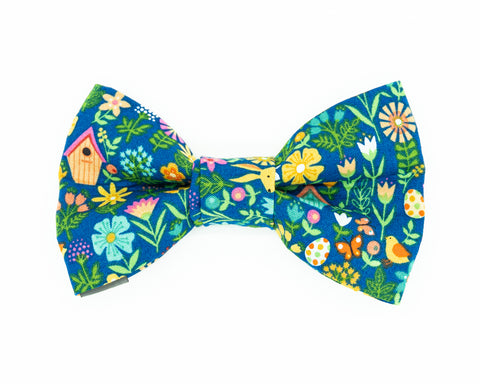 Spring floral dog bow tie