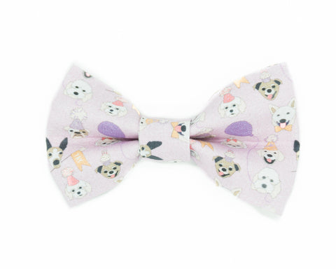 Purple birthday dog bow tie