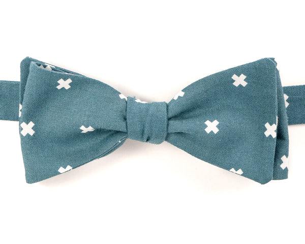 "100% cotton Seafoam Green  Self Tie Bow Tie Classic Butterfly Shape  Adjustable from 14.5""-18"" Handmade in Seattle, WA Didn't find the right color or size? Special event, party, school formal or wedding that needs a bespoke bow tie?   We'd love to custom make your perfect bow tie. Shoot us an email and we'll work with you to find the right fit."