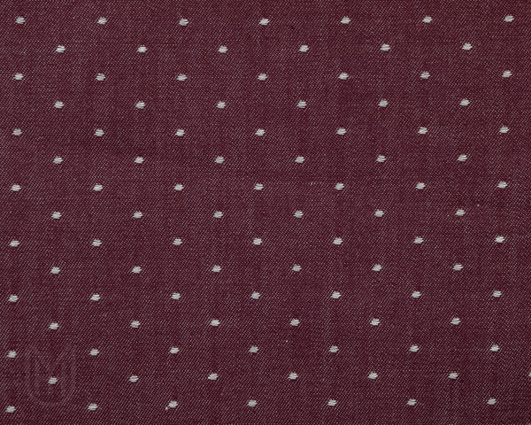 Bow Tie - Burgundy Chambray Dots