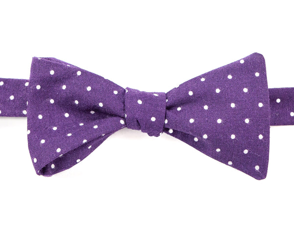 Bow Tie - Purple & White Polka Dot