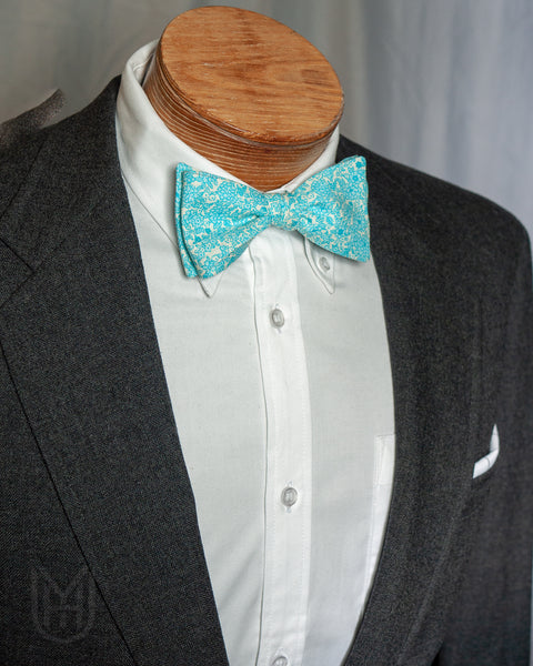 Bow Tie - Teal Floral