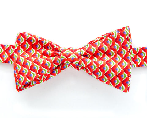 Bow Tie - Orange Art Deco Fan