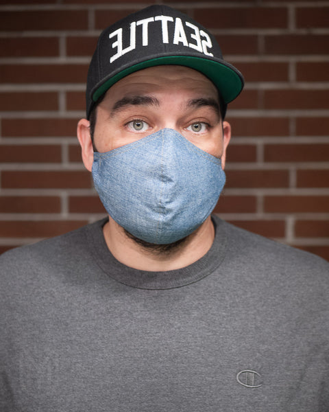Adult Cotton Face Mask - Turquoise