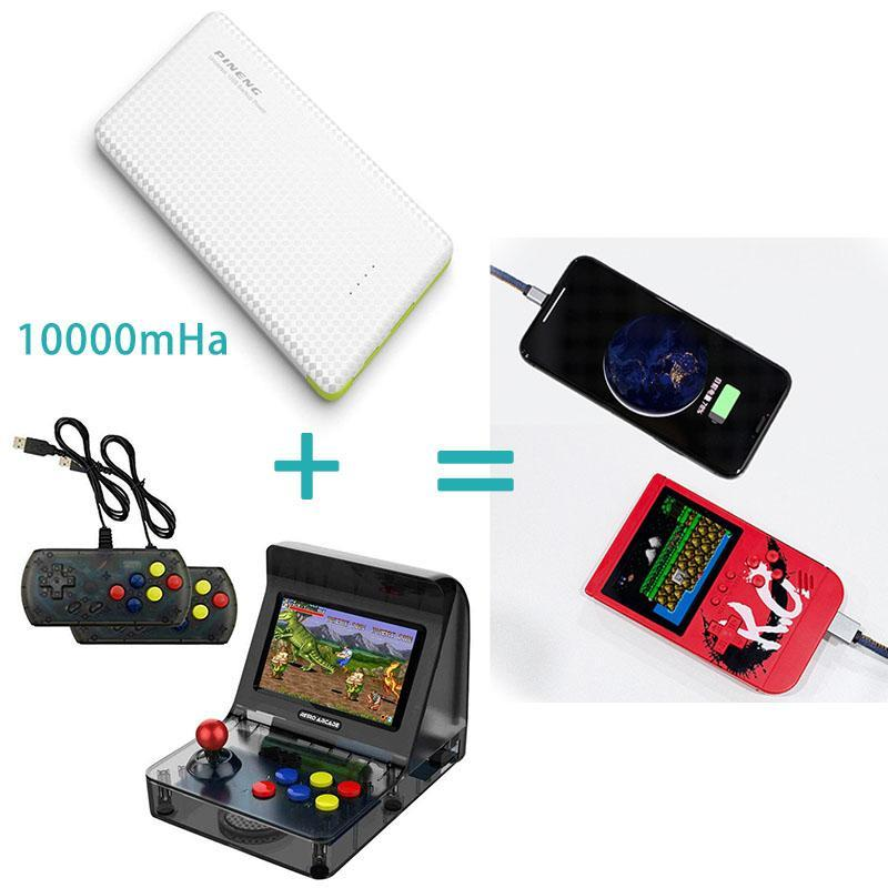 Hot sale!!Classic retro mini pocket game charger(10000mHa)300+ games