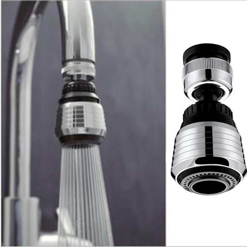 【HOT SALE !!! BUY ONE GET TWO !!!】360 ° Water Saving Shower Swivel Head Adapter