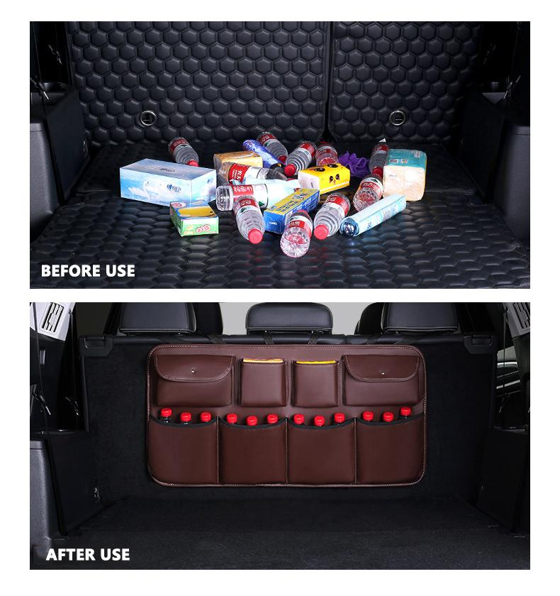 Leather car storage bag【Free shipping worldwide】