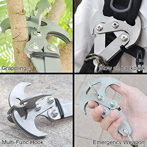 SODIAL Outdoor Climbing Multi-Function Mountaineering Hook Strong Iron Gravity Stainless Steel Flying Tiger Grip Hook