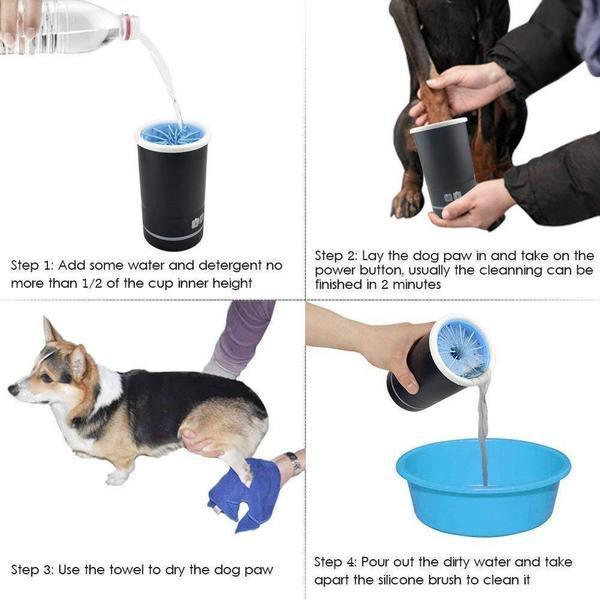 (50% OFF TODAY) Portable Dirty Paw Washer for Dogs – Ideal for Any Dog