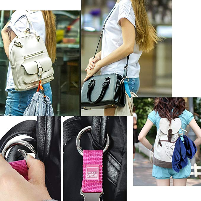 Add-A-Bag Luggage Strap Jacket Gripper, Baggage Suitcase Straps Belts Travel