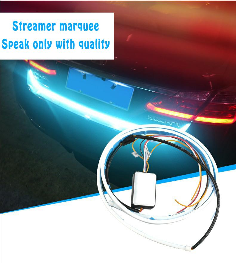 HOT !!! Car LED decorative light belt-Colorful running light tail box lamp
