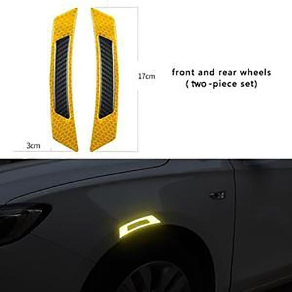 【HOT SALE!!!】  Car anti-collision rubber carbon fiber reflective warning sticker