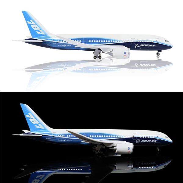 Upgrade with LED | Boeing Diecast Airplane Toys | 787-10 Prototype Model Airplane