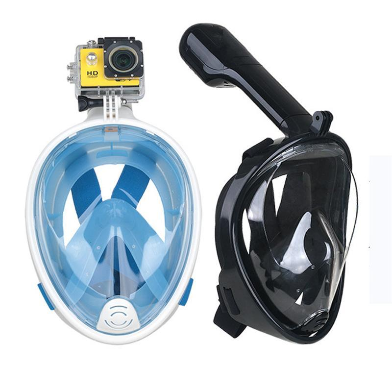 2018 Newest Foldable Full Face Snorkel Mask Snorkeling Gear with Camera Mount