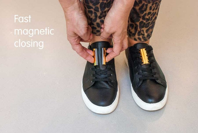 magnetic lacing - Metallics - Never tie laces again!
