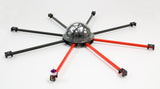 Medium lift OCTOcopter frame with 12x12mm arms