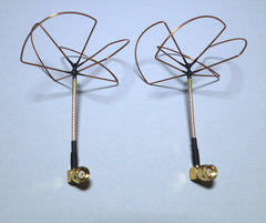 2.4Ghz RX,TX, SMA Cloverleaf antennas with angle connector