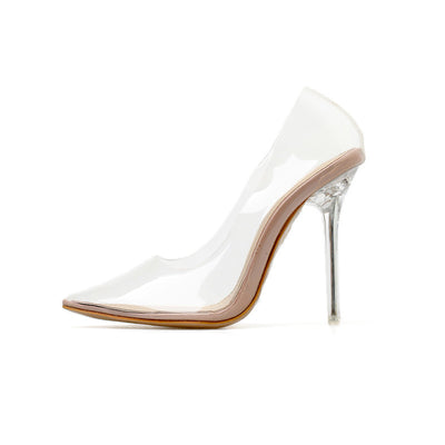 New 2019 fashion sexy transparent high-heeled sandals for women