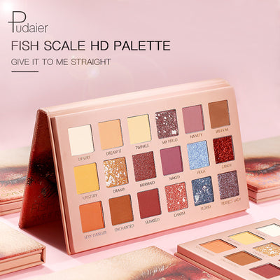 18 Color Fish Scale Eyeshadow Palette