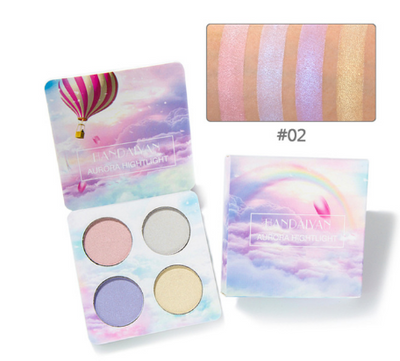 4-color eye shadow high disc