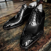 Breathable Lace-Up Men's Leather Shoes