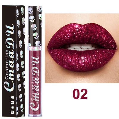 Taro diamond shiny metal lip gloss