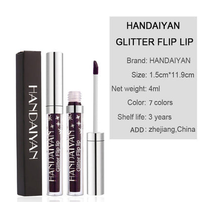 Sexy waterproof diamond long lasting liquid lip gloss
