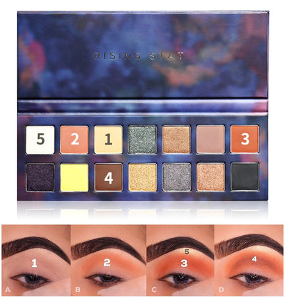 14-color flash matte eye shadow palette