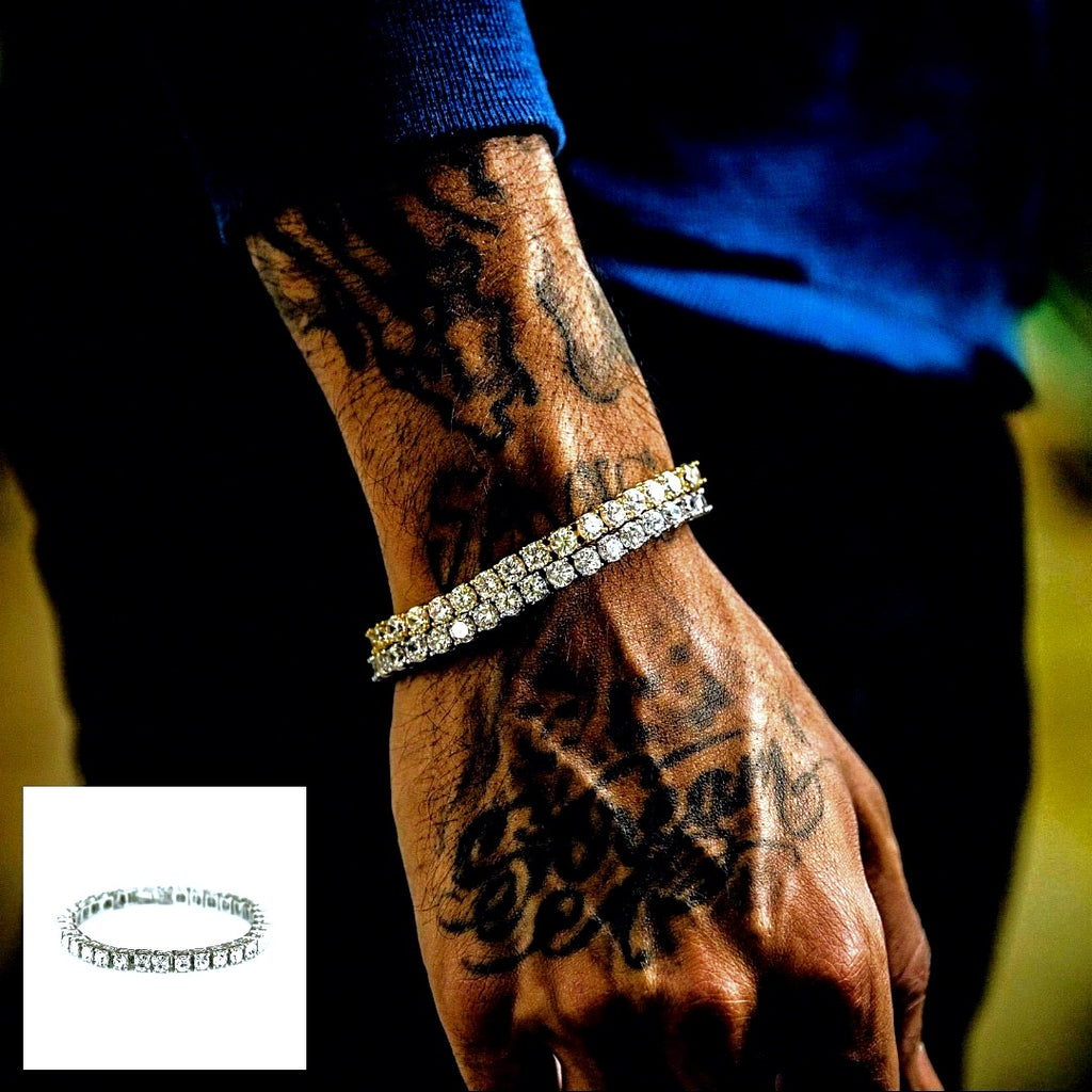 Iced Out Tennis Bracelet - 2 Colourways