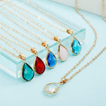Birthstone Natural Water Drop Pendant Necklace