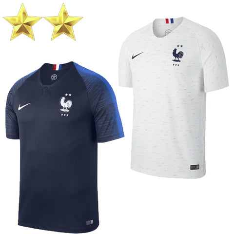2019 France Shirt Blue White 2 Stars