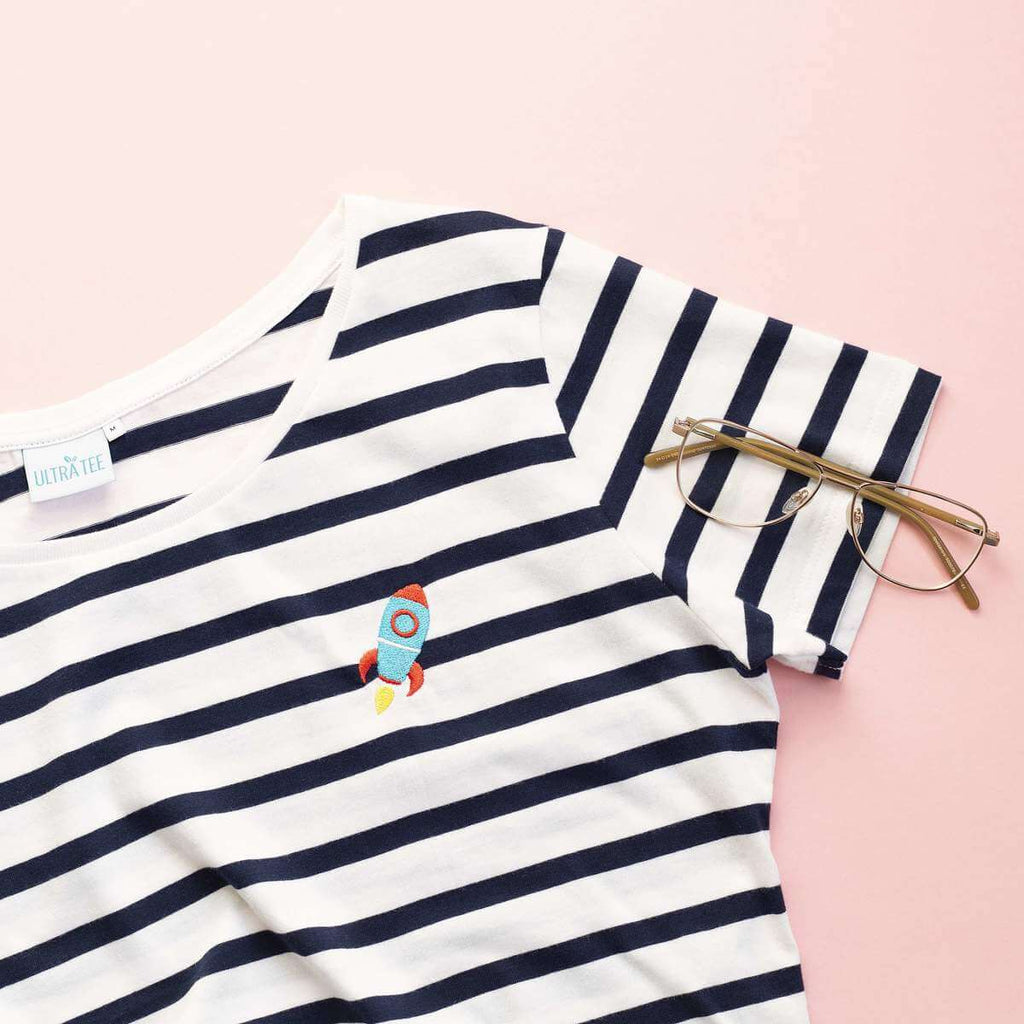Stripes Spaceship Tee