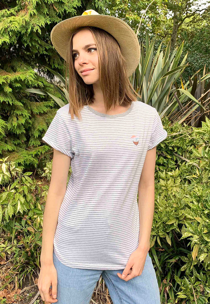 Coconut Rolled Sleeve Tee