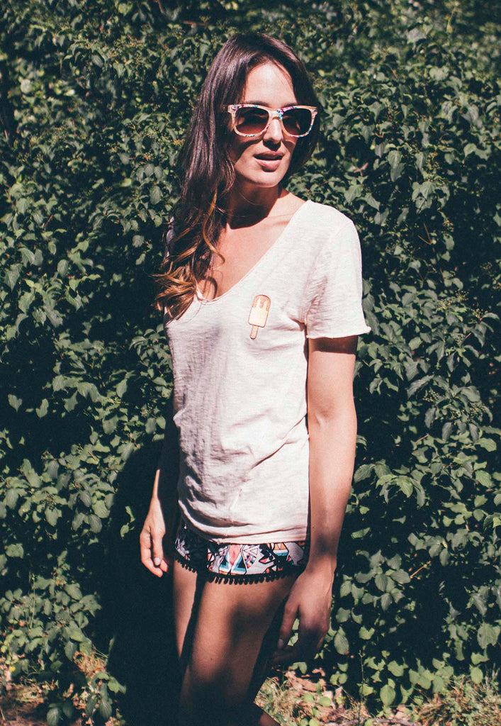 Ice-cream V-neck Tee