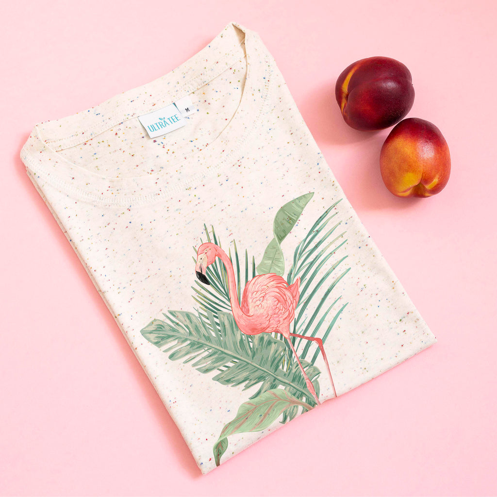 Tropical Flamingo Speckled Tee