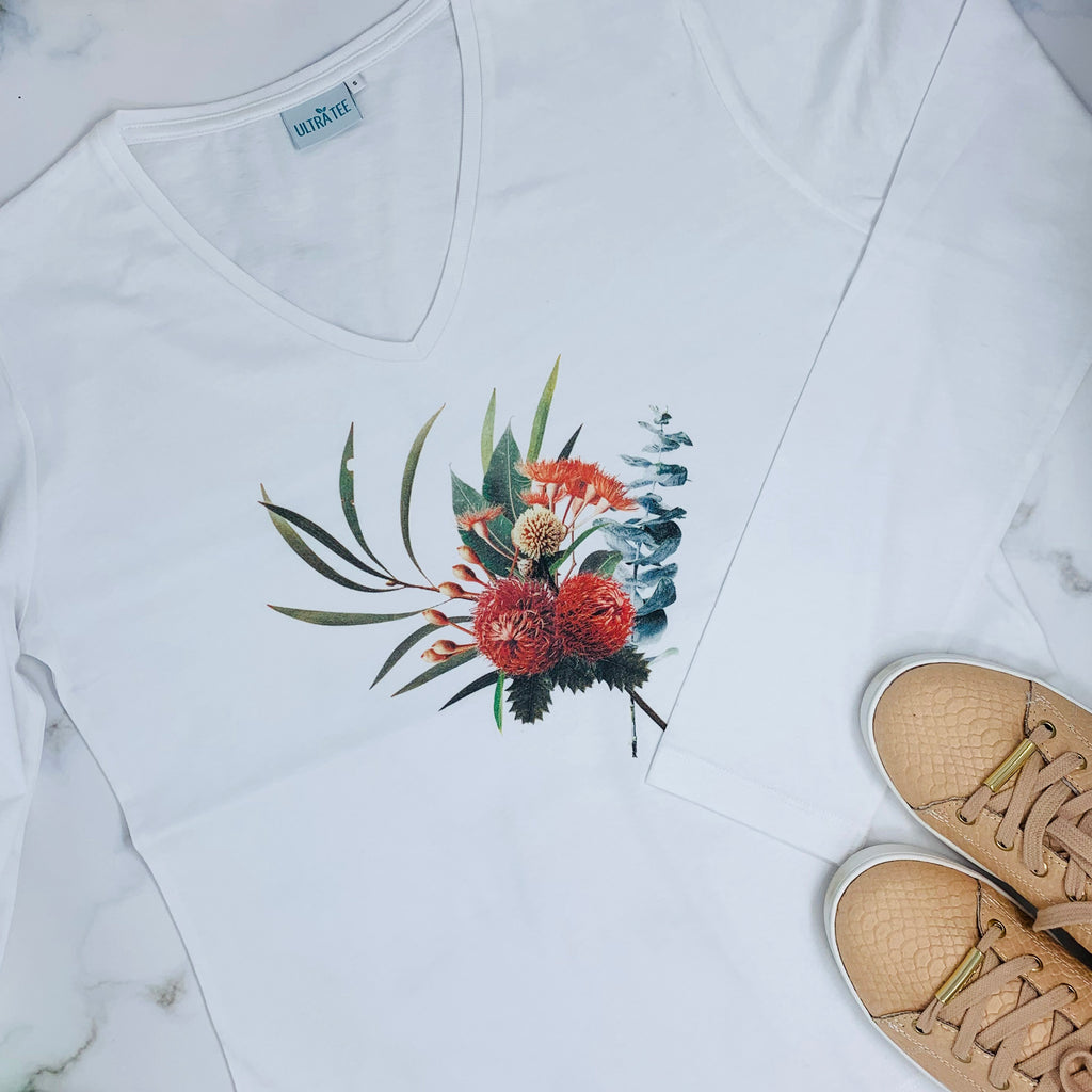 Winter Flowers Long Sleeves T-shirt