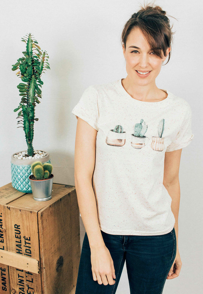 Cactus Speckled Tee
