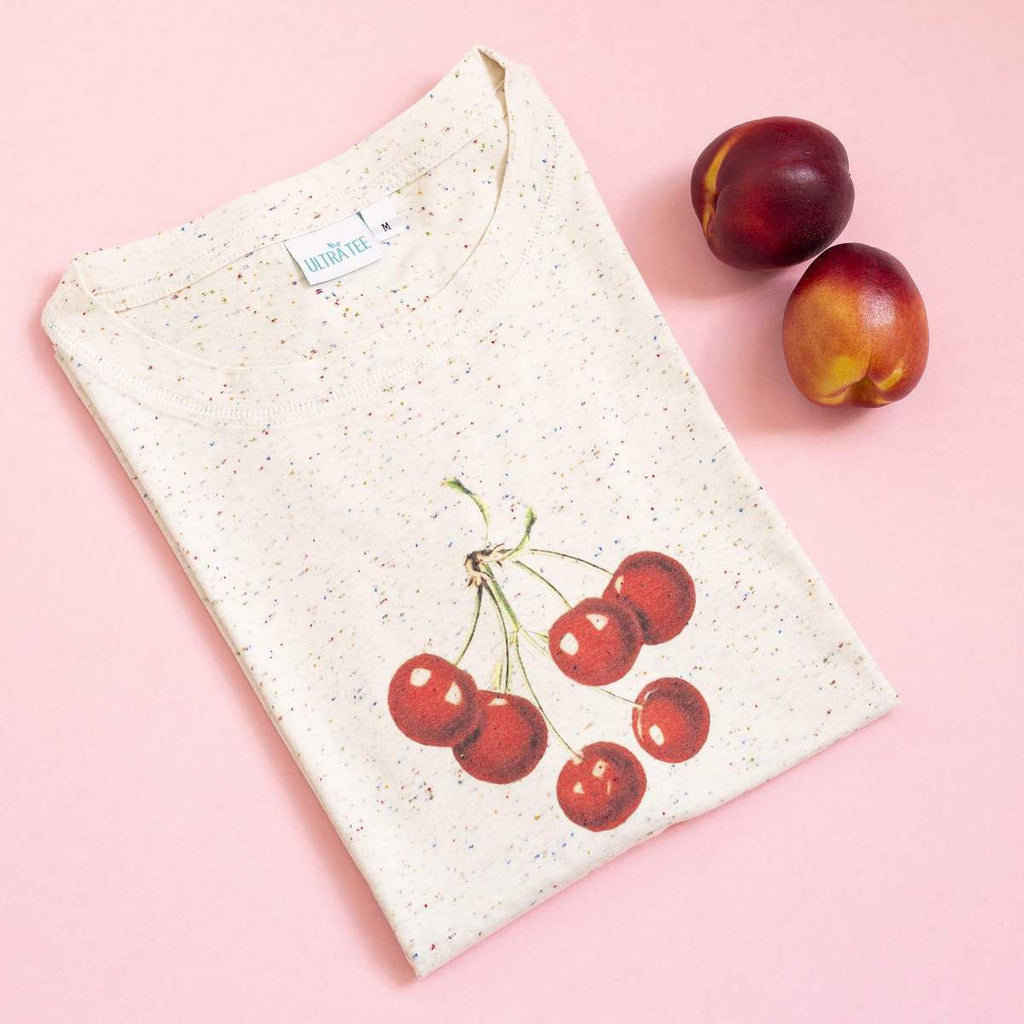 Cherries Speckled Tee