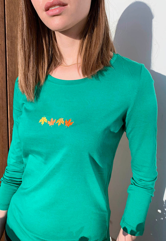 Leaves Long Sleeves T-shirt