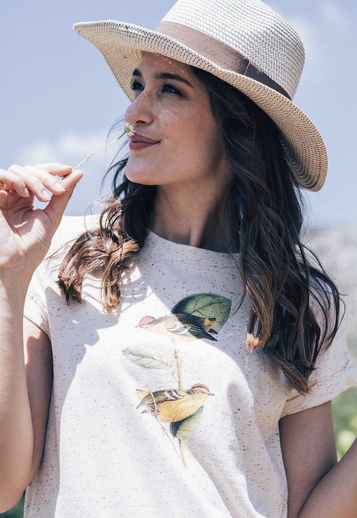 Yellow Birds Speckled Tee