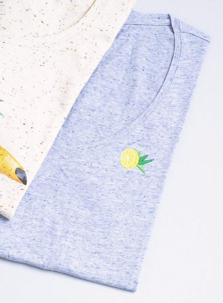 V-neck Lemon Tee