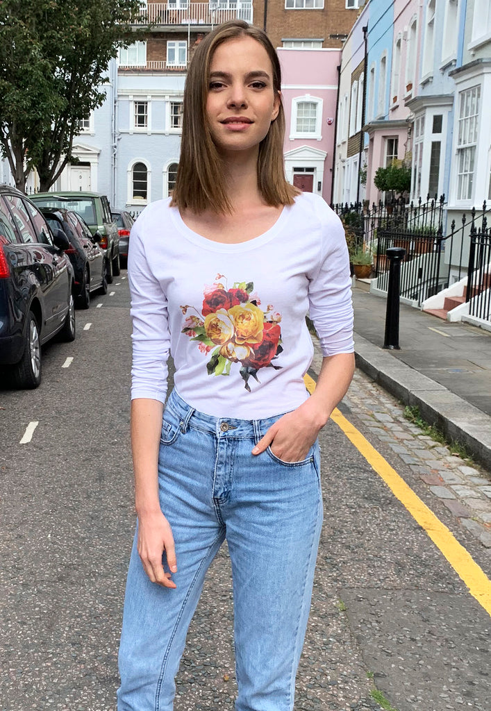 Flowers Long Sleeves T-shirt