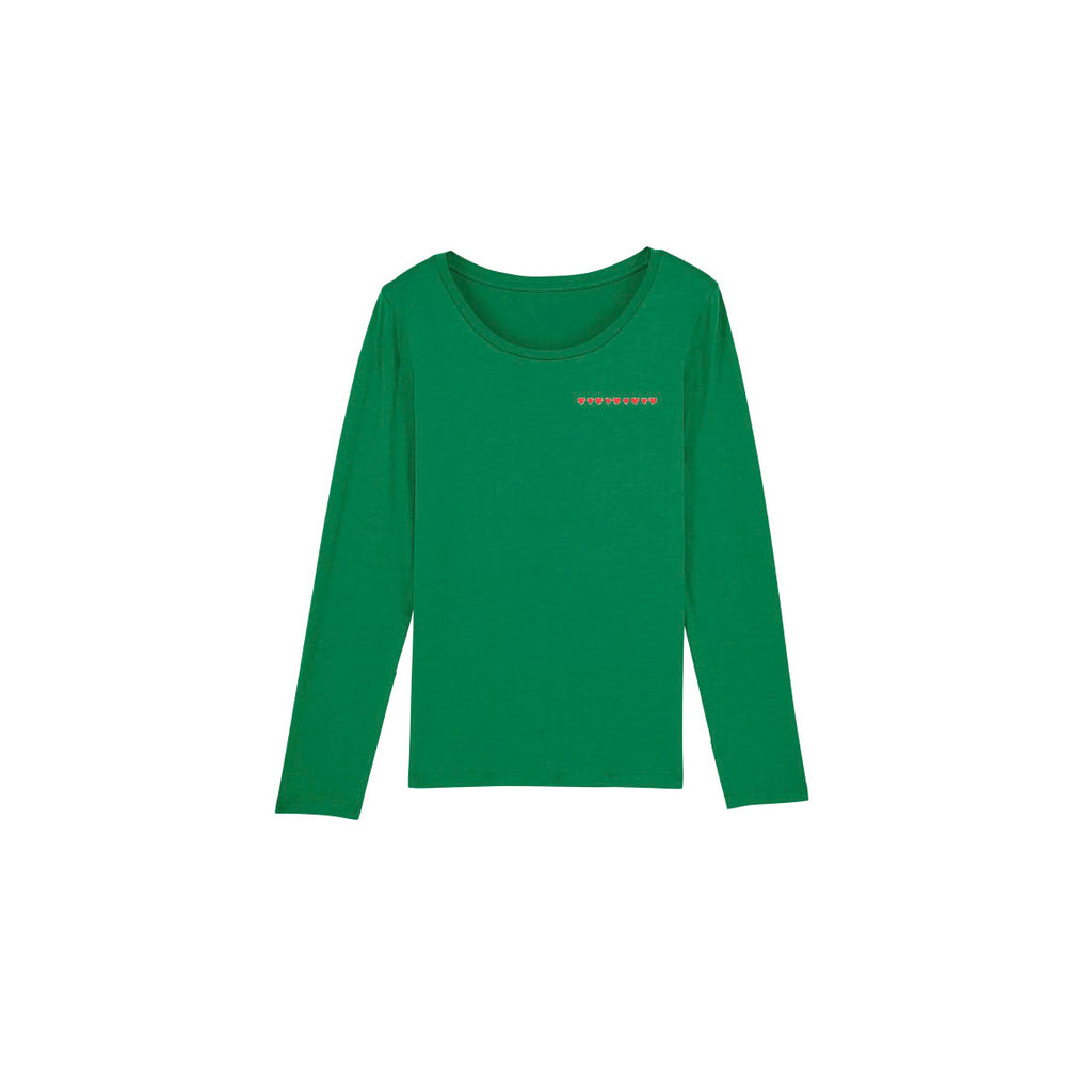 Hearts Long Sleeves T-shirt