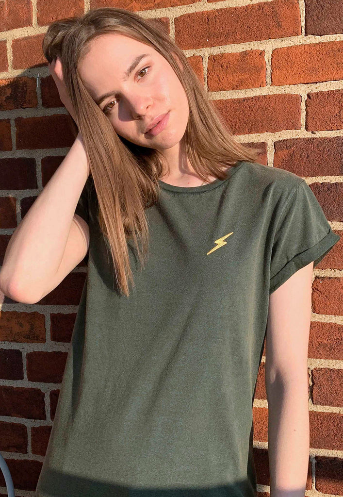 Lightning Rolled Sleeves Tee