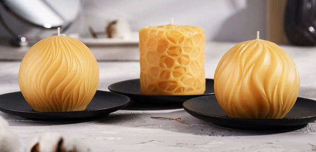 Pure Beeswax Round Candles