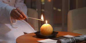 Incandescence beeswax candle light